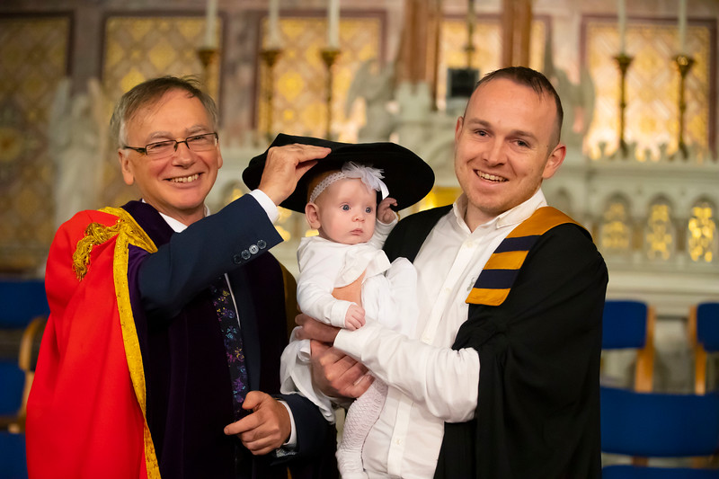 31/10/2019. Waterford Institute of Technology (WIT) Conferring Ceremonies are Ken Coffey with Ella who is 3mts old. Picture: Patrick Browne