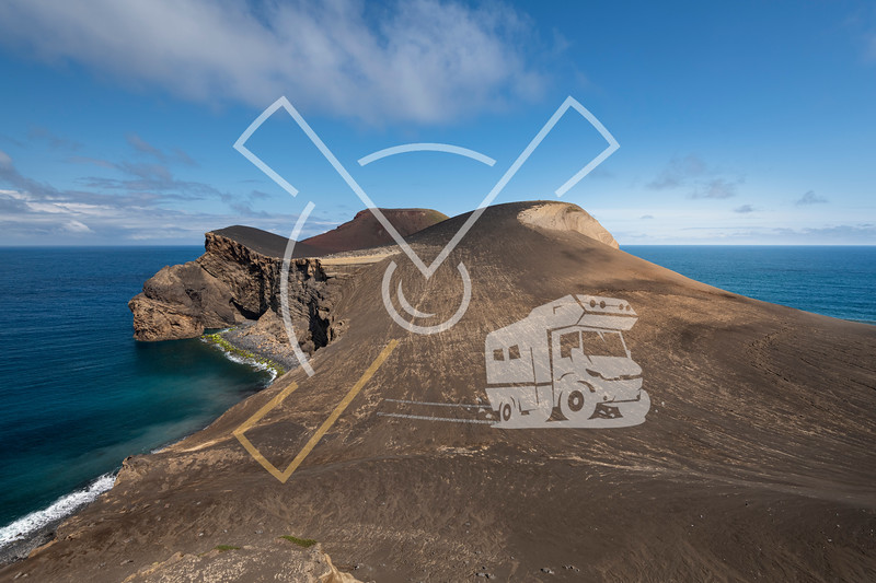 Landscape of the new born land of the Capelinhos volcanic eruption in 1957-1958 at Faial island