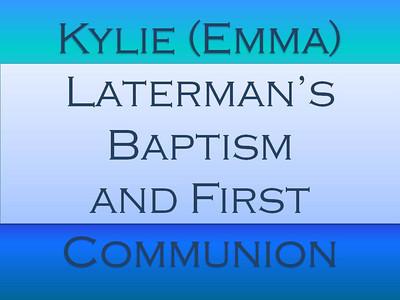 Kylie's (Emma) Laterman's Baptsim