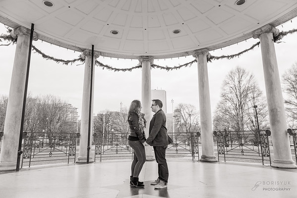 Boston Theater District Engagement: Holly & Nick
