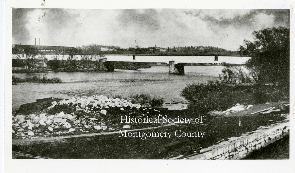 . The DeKalb Street Bridge, connecting Norristown and Bridgeport, is seen in this undated photo. The bridge opened in 1830. (Historical Society of Montgomery County photo)