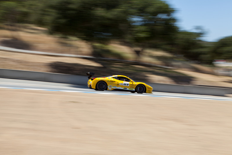 Rich Baek in the #87 Ferrari 458 EVO. © 2014 Victor Varela