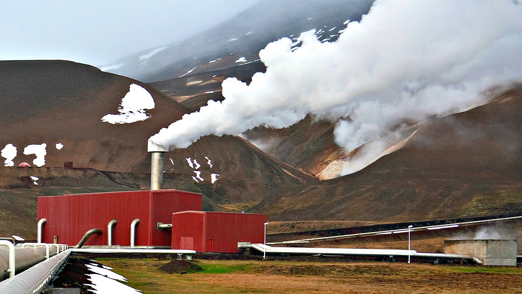 Krafla Power Station in Iceland in Iceland