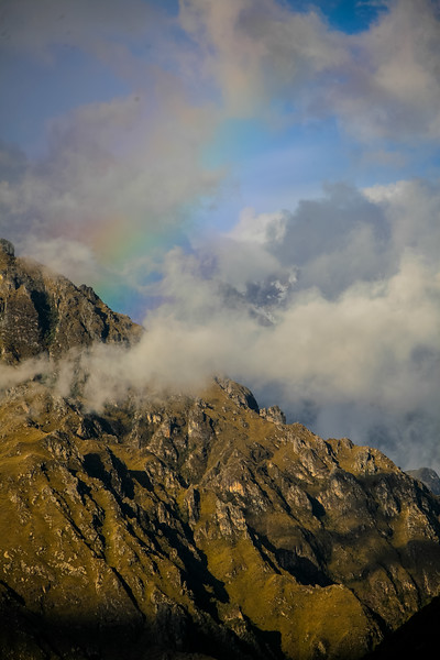 View of mountains with clouds - Peru