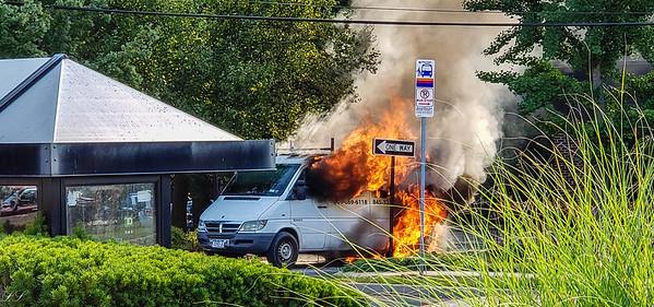 Montvale Van Fire TD Bank Drive Thru 7/29/19