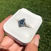 1.41ctw Art Deco Style Aqua and Diamond Dinner Ring 36