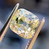 2.10ct Light Yellow Antique Peruzzi Cut Diamond, GIA W-X SI2 11