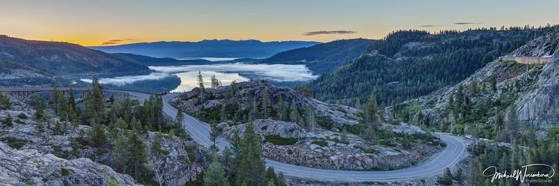 Sunrise Over Donner Lake
