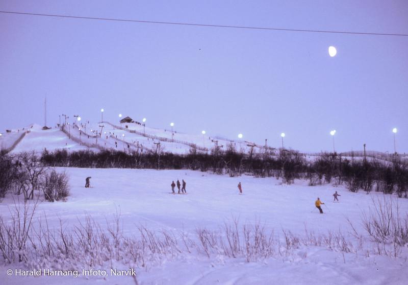 Kiruna i Nord-Sverige. Alpinanlegg fra gamle Loussavaara.