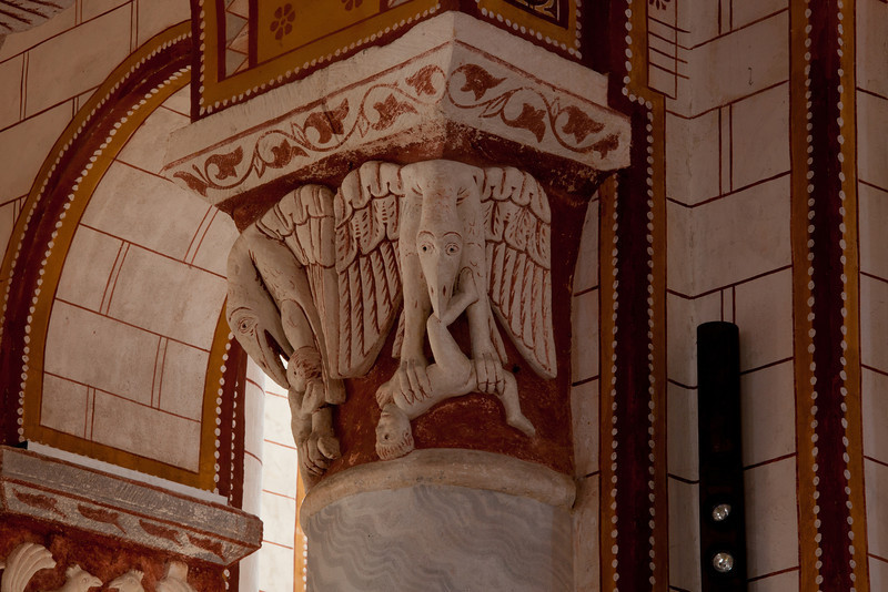 Chauvigny, Saint Peter Collegial Church Capital