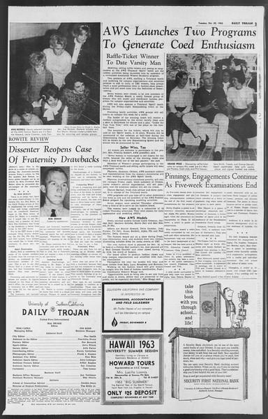 Daily Trojan, Vol. 54, No. 26, October 30, 1962