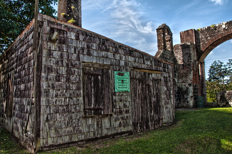 18th century sugar mill still standing in St. Kitts, part of Wingfield estates, once home to Sam Jefferson, the great-great grandfather of Thomas Jefferson.