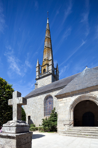 Saint-Cornely church, town of Carnac, departament of Morbihan, Brittany, France