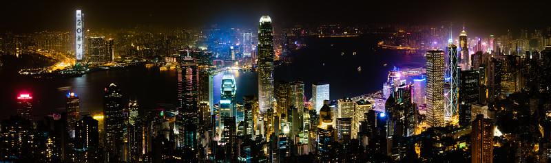 Hong Kong magical night atmosphere