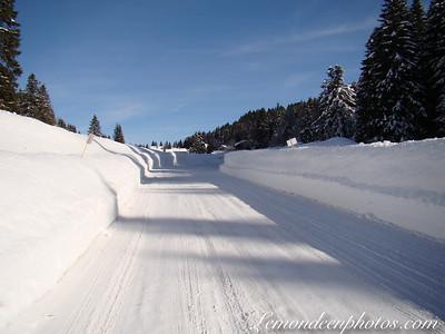 Routes enneigées du Haut-Jura