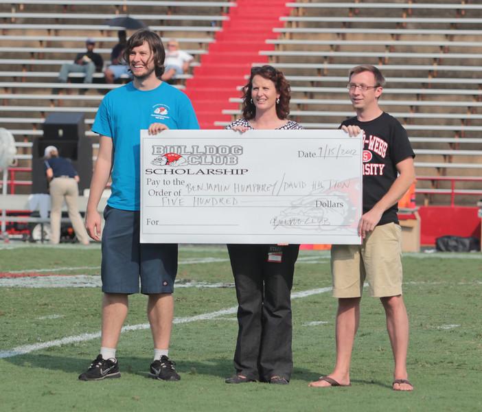 David Hutton and Ben Humphrey receive the Bulldog Club Scholarship.