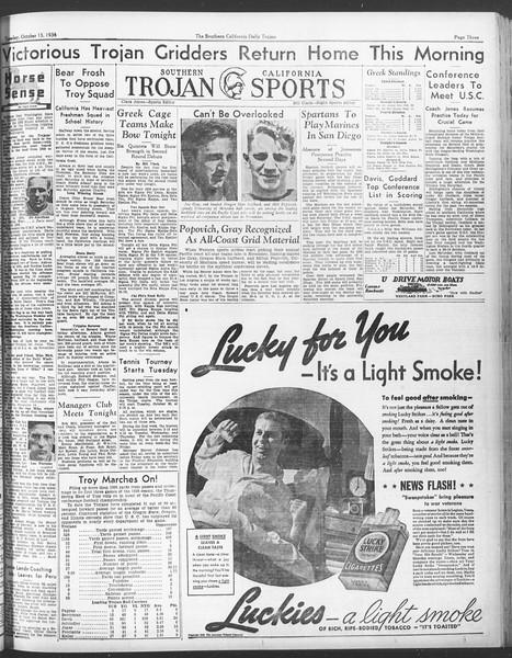 Daily Trojan, Vol. 28, No. 18, October 13, 1936