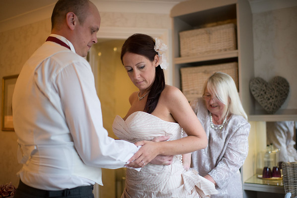 Dressing the Beautiful Bride