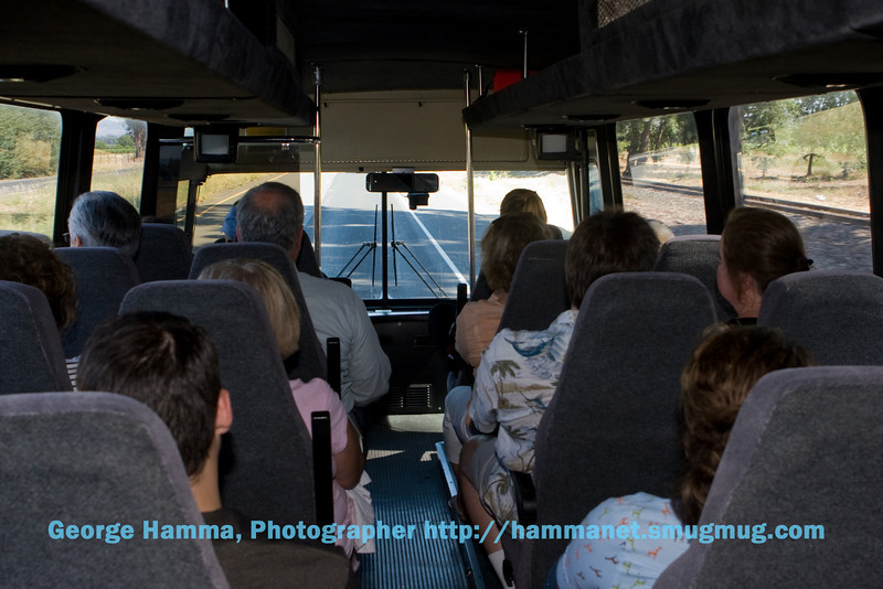Returning to the train depot is a short, comfortable bus ride from the winery.
