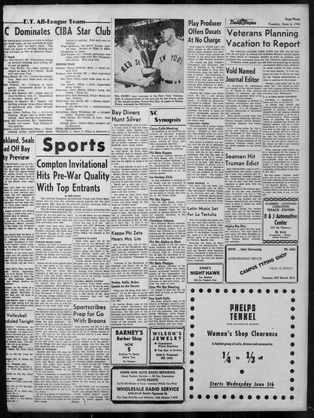 Daily Trojan, Vol. 37, No. 141, June 04, 1946