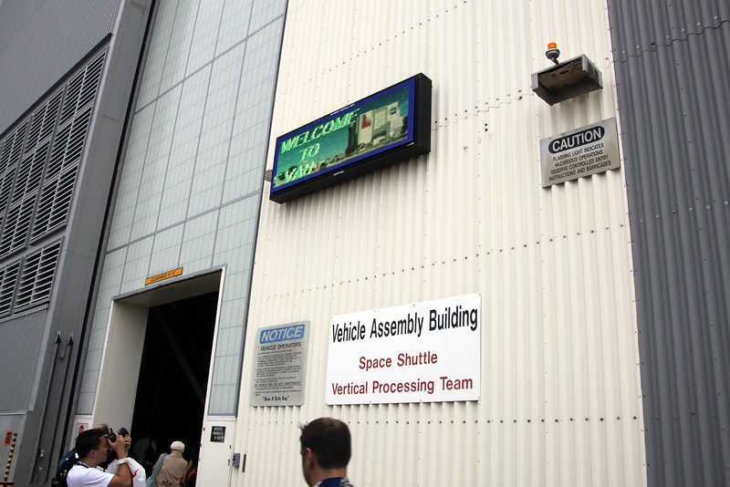 Entrance to the Vehicle Assembly Building