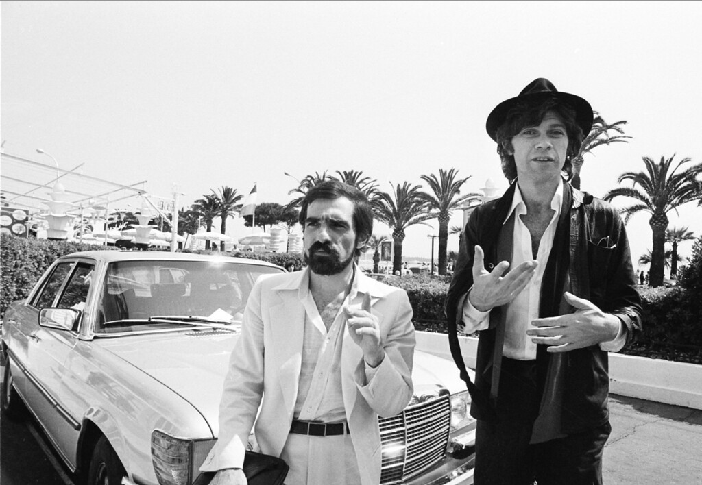 ". American director Martin Scorsese, left, and producer Robbie Robertson are shown in the French Riviera in Cannes, France, where they will present ""Last Waltz\"" at the 31st Cannes International Film Festival, May 29, 1978.  (AP Photo)"
