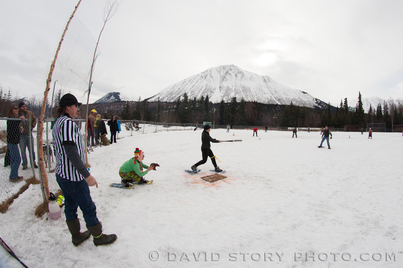 Cooper Landing's 2nd Annual Snowshoe Softball game. Check out more from the game by clicking here: http://galleries.davidstoryphoto.com/Alaska/2013-Snowshoe-Softball/n-9zLVt
