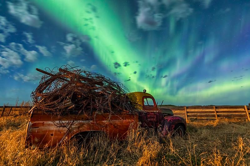 Painted Truck Aurora  8x12 $70