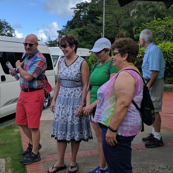 Rented van to explore island
