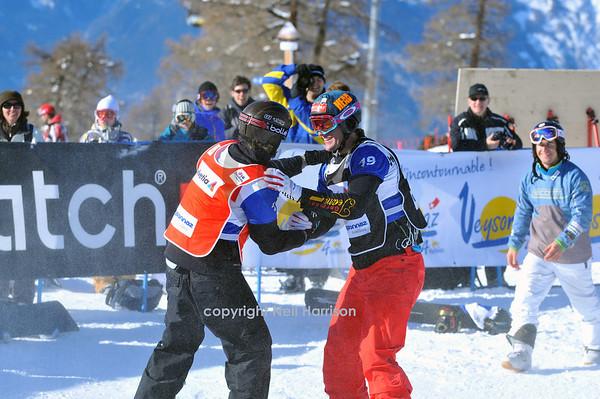 FIS 2010 Snowboard Cross Final and Award