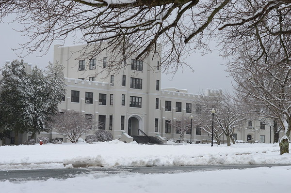 More Campus in Snow Photos