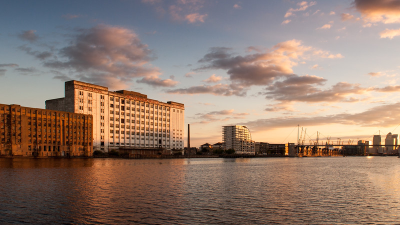 Millennium Mills and the Royal Victoria Dock
