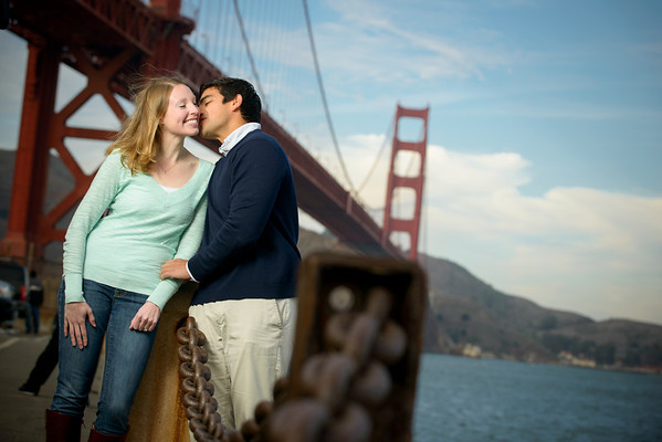 Carly and Josué (Engagement Photography) @ Fort Point and Palace of Fine Arts, San Francisco