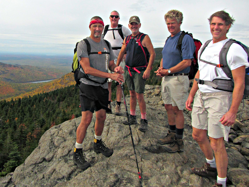 Karl, Mark, Jim, Tom and Dave on the windy ridge near North Traveler.