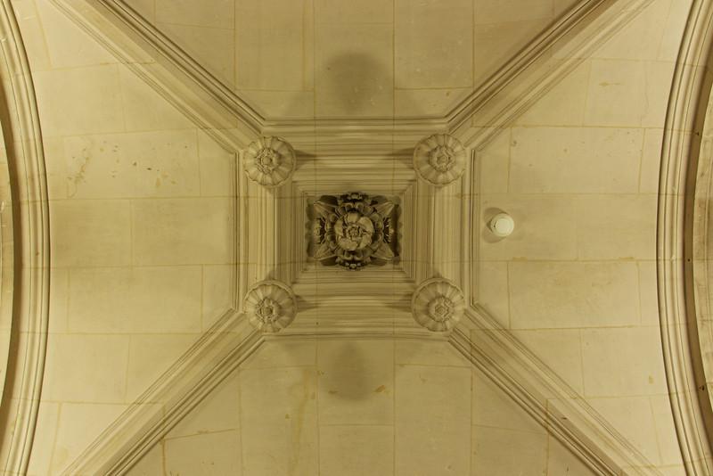 Ceiling detail in Hotel de Ville