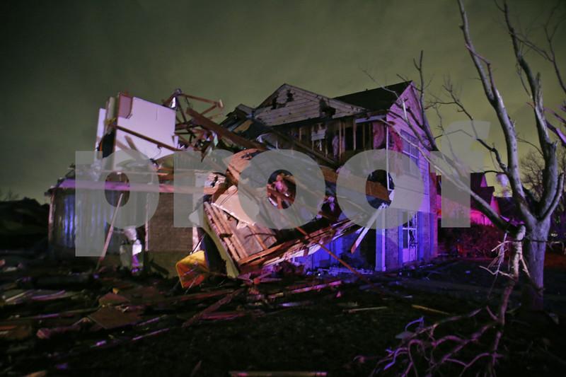 Devastation of Texas tornadoes