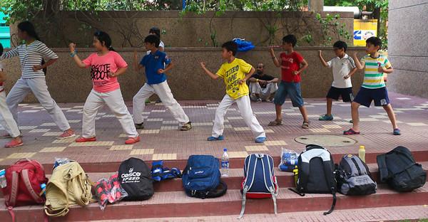 Reyas-Karate class