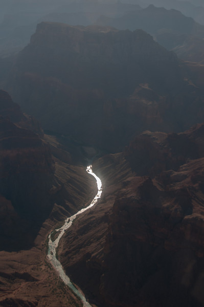 The Colorado River winds through Grand Canyon in Arizona, USA