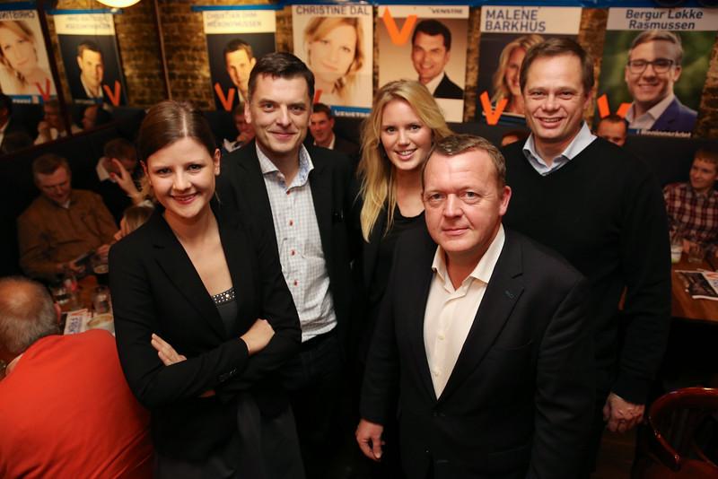 Christine Dal, Jan E. Jørgensen, Malene Barkhus, Lars Løkke Rasmussen, Peter Fjerring