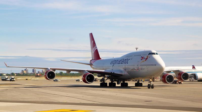 Virgin Atlantic Boeing 747.  Isn't it huge!  ...