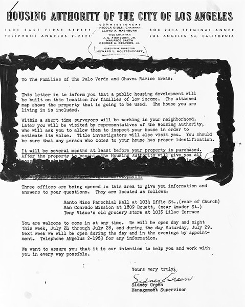 1950, Housing Authority Letter