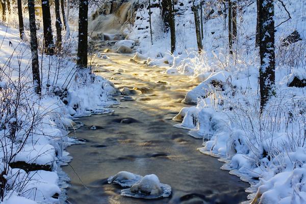 Bosgårdsfallet vinter