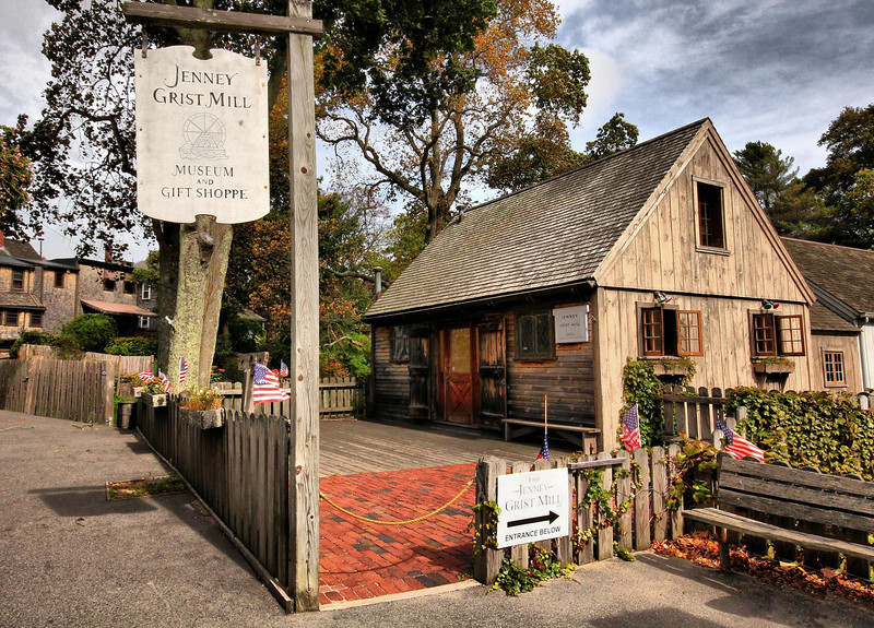 Jenney Grist Mill, Plymouth, Massachusetts, is proclaimed the oldest operating Grist Mill in America. A few miles to the south of here is the town of Sandwich that has a grist mill with the same basic claim.