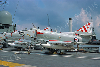 Australian Navy Douglas A-4 Skyhawk Attack Jet Military Airplane Pictures for Sale