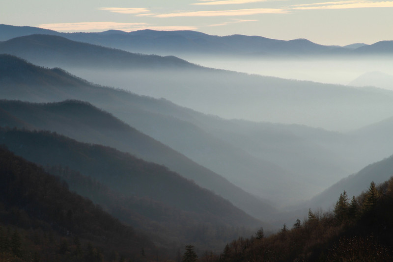 One final image on the way home on Sunday morning from the first overlook from Newfound Gap on the North Carolina side.  Anyone know the name of this overlook please let me know.  Found it...Oconaluftee Overlook.