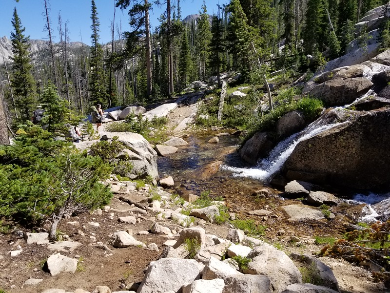 We crossed the creek 3 times on the way up to Edith Lake - This was the second crossing point