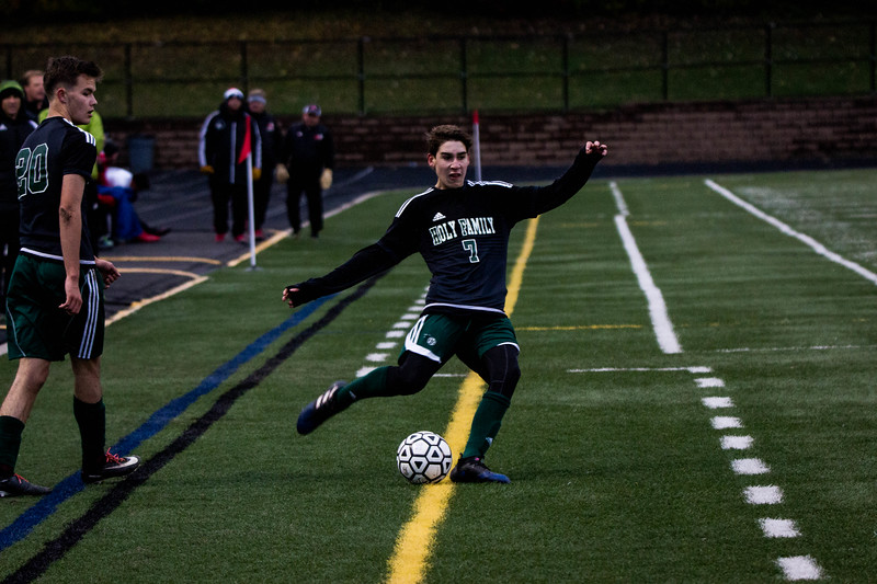 Holy Family Varsity Soccer vs. Monticello Oct 11, 2018: Finn Dowling '21 (7)