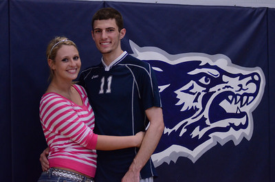 Oswego East varsity boys volleyball Vs Plainfield Central (Senior Night 2012)