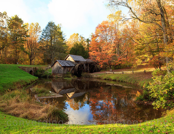 Watermill along the Blue Ridge Parkway in Virginia.