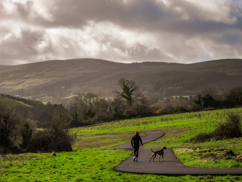 Kiltipper Park, between Tallaght and the Dublin Mountains